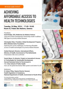 Poster - Achieving Affordable Access to Health Technologies