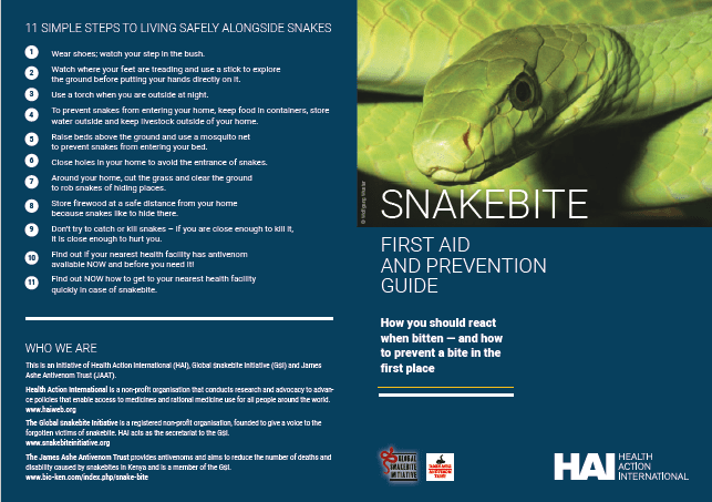 Prevention and First Aid Leaflet